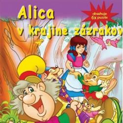 Puzzle kniha - Alica v krajine zázrakov