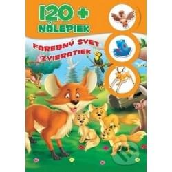 120+ nálepiek - Farebný svet zvieratiek