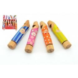 Veselá farebná drevená píšťalka