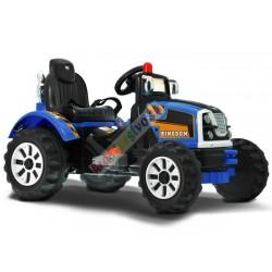 Veľký elektrický traktor 100 cm, 2x motor, modrý