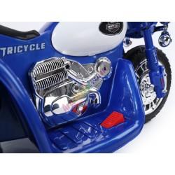 Harley detská elektrická motorka 86 cm, Modra
