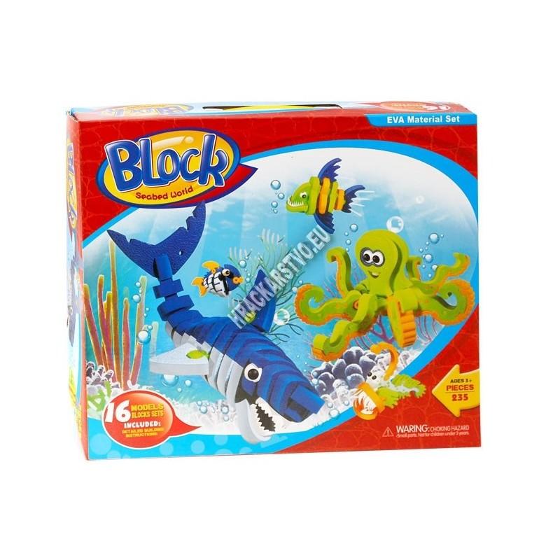 235 penové puzzle, 3D - morský svet,