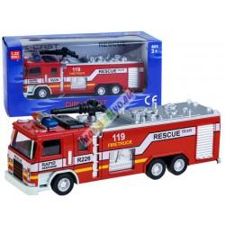 Kovové hasičské auto so zvukovými a svetelnými efektmi