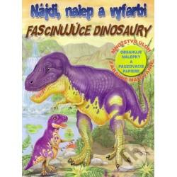 Nájdi, nalep a vyfarbi- Fascinujúce dinosaury