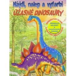 Nájdi, nalep a vyfarbi- Úžasné dinosaury