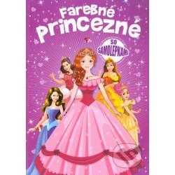 Farebné princezné so samolepkami