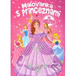 Maľovanka s princeznami so samolepkami