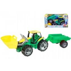 Traktor s lyžicou a vlečkou, 60 cm