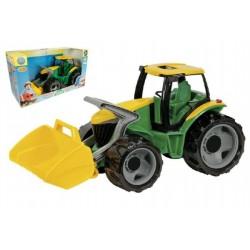 Traktor s lyžicou zeleno-žltý, 65 cm