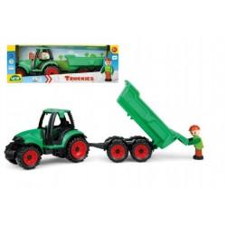 Traktor s vlečkou a s figúrkou, 32 cm