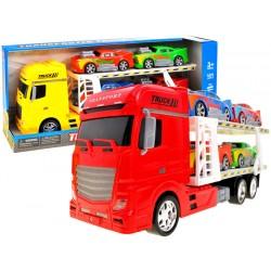 Kamión – transportér + 4 autíčka, 44 cm,  3 farby