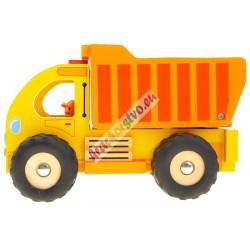 Drevené nákladné auto svyklápacou vlečkou
