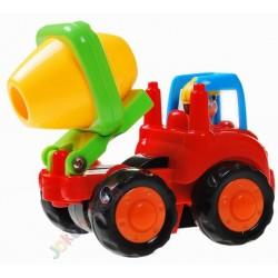 HUILE TOYS sada: Traktor + bager + domiešavač + tatra, 12m+
