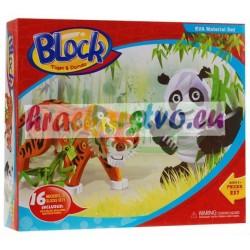 3D penové puzzle, Panda a Tiger , 237 častí