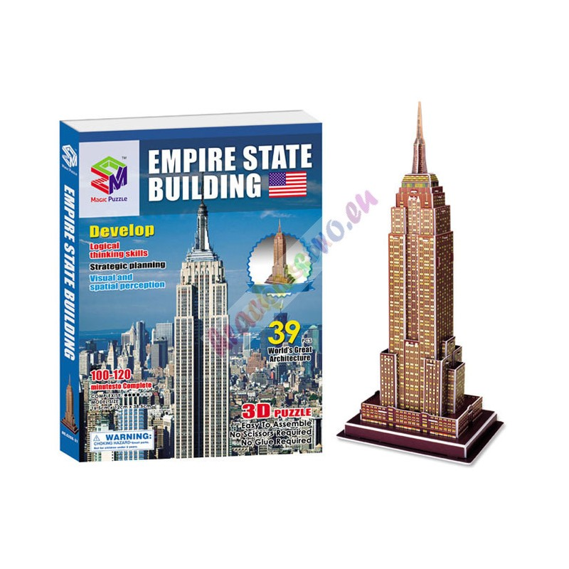 3D Puzzle, Empire State Building