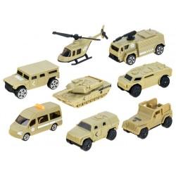 Vojenský prepravný nákladiak + autíčka, 9v1