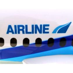 B787 veľké dopravné lietadlo so zvukom, jazdí