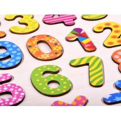 Drevené puzzle: Čísla a matematické znaky