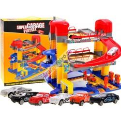 Poschodová garáž s výťahom + 6 autíčok