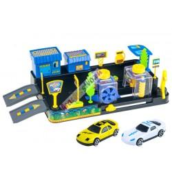 Autoumývareň s čerpacou stanicou + 2 autíčka