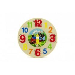 Drevená vkladačka- hodiny Krtko