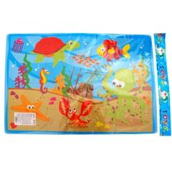 Penové puzzle 50x30 cm, 28 dielikov, 6 druhov