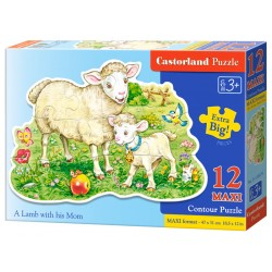 Castorland MAXI 12 Puzzle Ovečka s mamou