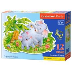 Castorland MAXI 12 Puzzle Playing elephans