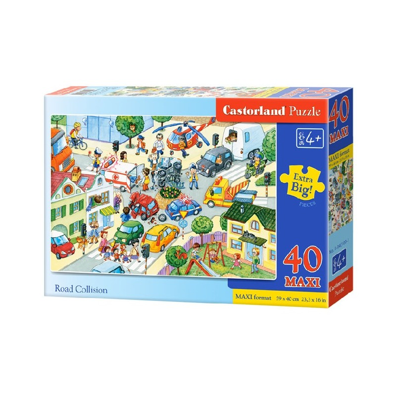 Castorland MAXI 40 Puzzle Zrážka na ceste
