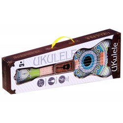 Farebné Ukulele 58cm,  s remeňom