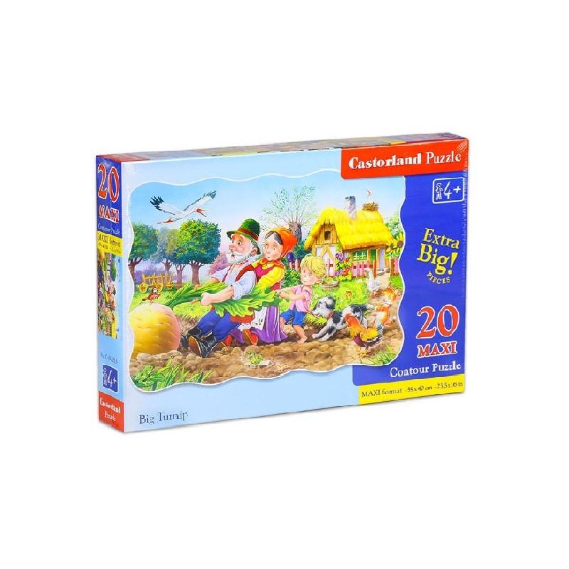 Castorland MAXI 20 Puzzle Ťahal dedko repu