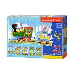 Castorland Edukatívnu Puzzle Vlak, 21 dielikov
