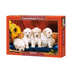 Castorland Puzzle Šteniatka so slnečnicou, 1000 dielov