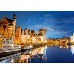 Castorland Puzzle Starý prístav, Gdansk, Poľsko, 1000 dielov