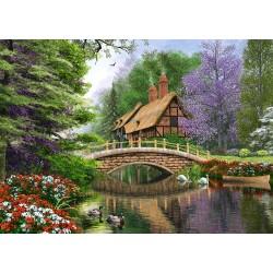 Castorland Puzzle Chata pri rieke, 1000 dielov