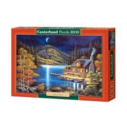 Castorland Puzzle Chata pod mesačným svitom, 1000 dielov