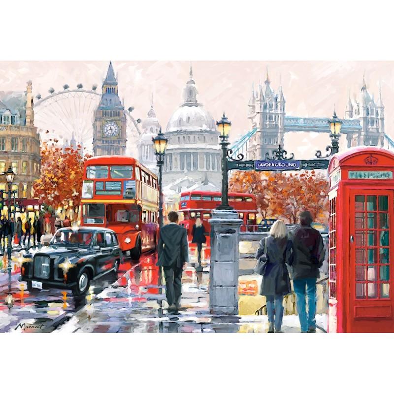 Castorland Puzzle Londýn - koláž, 1000 dielov