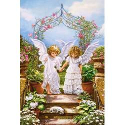 Castorland Puzzle Anjelský priatelia, 1000 dielov
