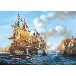 """Castorland Puzzle """"Bitka o Porto Bello"""", 1739, 2000 dielov"""