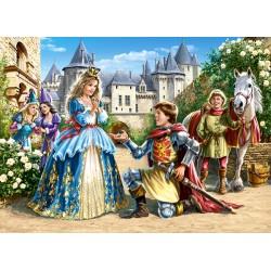 Castorland Puzzle Princezná a Rytier, 300 dielov