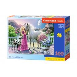 Castorland Puzzle Môj priateľ jednorožec, 300 dielov
