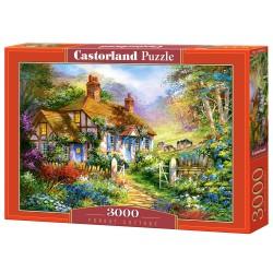 Castorland Puzzle Chata v lese, 3000 dielov