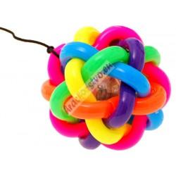 JOJO svietiaca dúhová loptička na gumičke