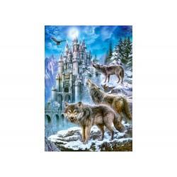 Castorland Puzzle Vlci a hrad,1500 dielov