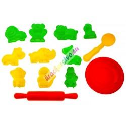 PlaySand - Magický piesok 4 farby + formičky apieskovisko, 800g