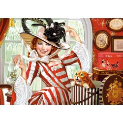 Castorland Puzzle Dáma v klobúku, 500 dielov