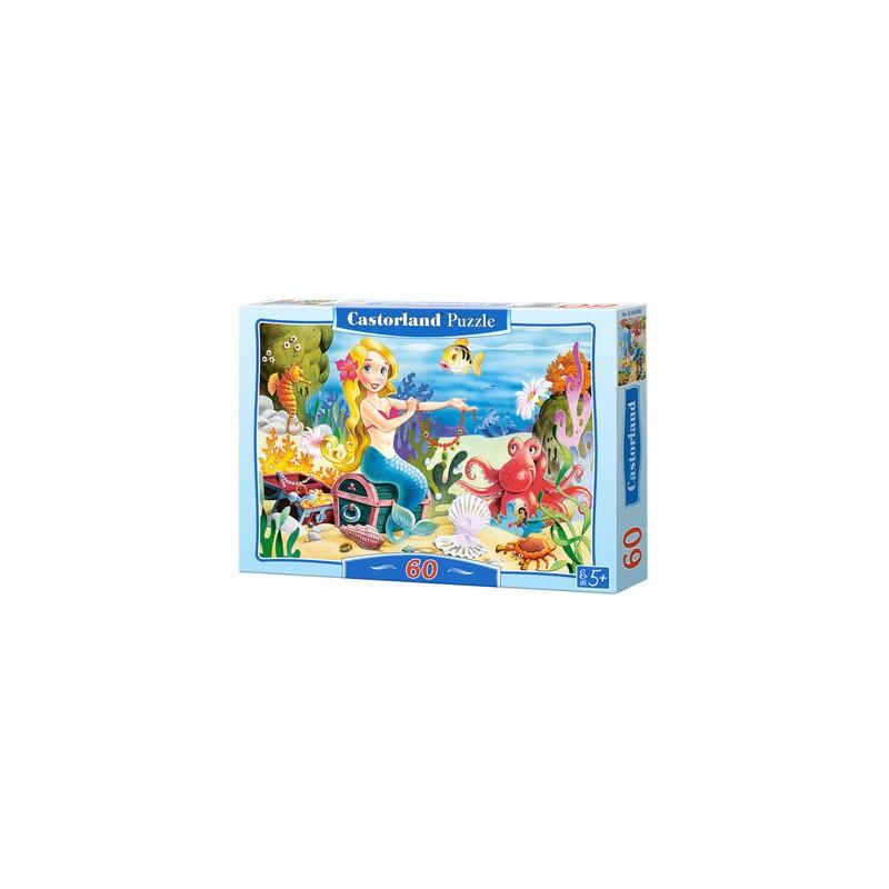 Castorland Puzzle Malá morská panna, 60 dielikov