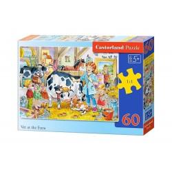 Castorland Puzzle Veterinárka na farme, 60 dielikov
