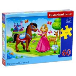 Castorland Puzzle Princezná a jej kamarát, 60 dielikov