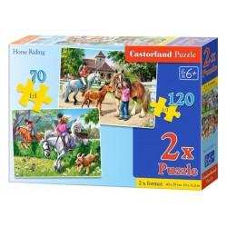 Castorland Puzzle Jazda na koni, 70+120 dielikov